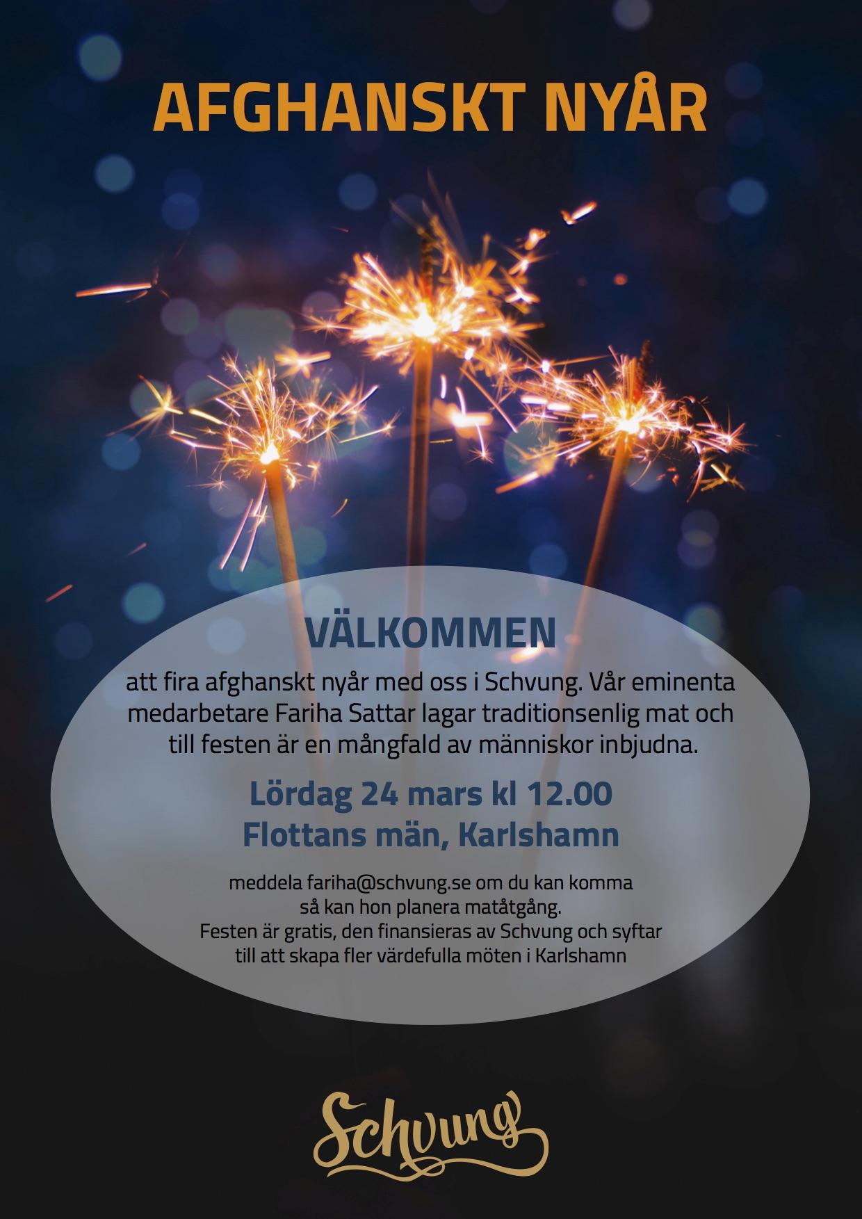 Afghanskt Nyår Schvung I Karlshamn